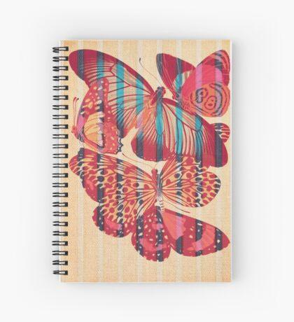 Butterflies in Strips Spiral Notebook