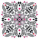 Winter Graphic Folk Art Pattern by micklyn
