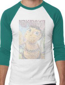 bee movie script ( you can read it) Men's Baseball ¾ T-Shirt