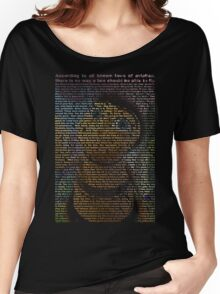 bee movie script ( you can read it) Women's Relaxed Fit T-Shirt