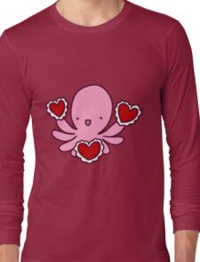 Valentine Octopus Long Sleeve T-Shirt