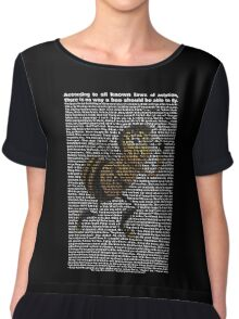 bee movie script ( you can read it) Chiffon Top