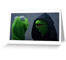 Evil Kermit Greeting Card