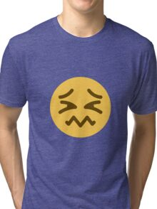 Confounded face Tri-blend T-Shirt