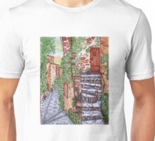 Ancient Crumbling Stone Steps Unisex T-Shirt