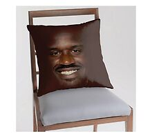 "Screenshot of ""Shaq Fu"" throw pillow by Stove Aya by krambra"
