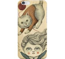 Kitty Knitting iPhone Case/Skin