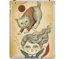 Kitty Knitting iPad Case/Skin