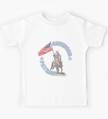 American Patriot Horseman  Kids Tee