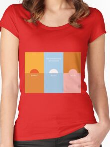 The importance of colour - Sunset Women's Fitted Scoop T-Shirt