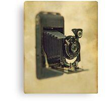 An old bellows camera. Canvas Print