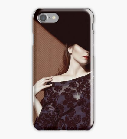 Woman in shadow iPhone Case/Skin