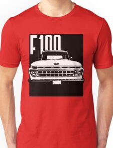 1965 Ford F100 - Black and White Unisex T-Shirt