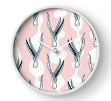 Scandinavian style floral root pattern design Clock