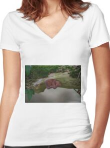 Jelly Ear Fungus Women's Fitted V-Neck T-Shirt