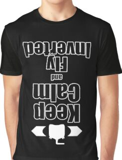 RC-Keep Calm Fly Inverted Graphic T-Shirt