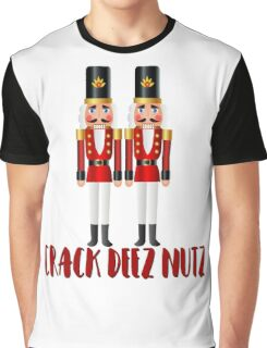 Crack Deez Nutz Funny Nutcracker Christmas Holiday Graphic T-Shirt