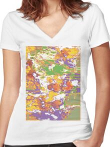 Tropical Funk  Women's Fitted V-Neck T-Shirt