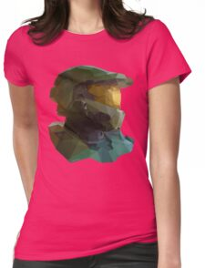 Low Poly Master Chief Womens Fitted T-Shirt