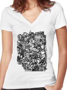 City Stuff Women's Fitted V-Neck T-Shirt