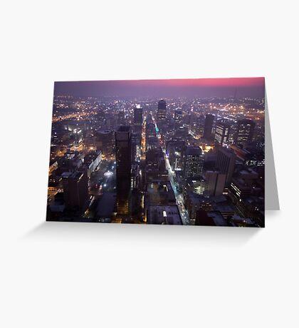 Johannesburg By Night Greeting Card