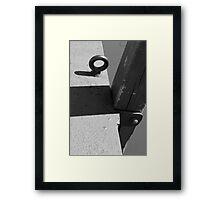 Dock Ring Framed Print