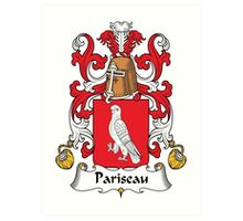 Pariseau Coat of Arms (French) Art Print