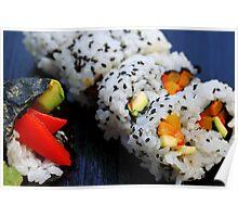 Sushi California Roll Poster