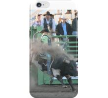 Bull it! Black & white bucking bull iPhone Case/Skin