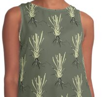 Root botanical illustration pattern design Contrast Tank