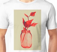 Leaves in a jar watercolor illustration. Unisex T-Shirt