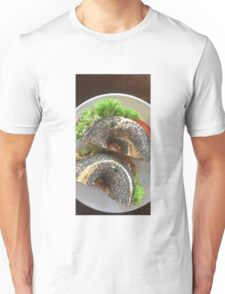 Filled Poppy Seed Bagel Unisex T-Shirt