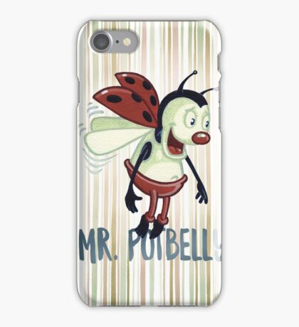 Mr. Potbelly presents - acrylic on canvas iPhone Case/Skin