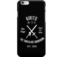 The Twin Blade Swordsman (White) iPhone Case/Skin