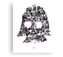 21 Darth Vaders Canvas Print