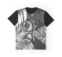 Abstract Hand Drawn Surreal Flower Looking Design Graphic T-Shirt