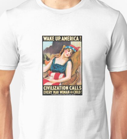 Wake Up, America! Poster Unisex T-Shirt