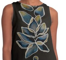Blue and Yellow Lotus Contrast Tank