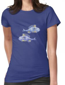 GREEK MEDITERRANEAN FISHES Womens Fitted T-Shirt