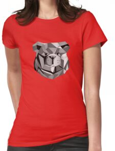 ROBUST Bear Robot Black Womens Fitted T-Shirt