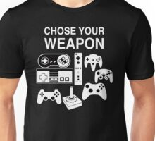 Chose Your Weapon Retro Video Game Console Controllers Graphic Design Unisex T-Shirt