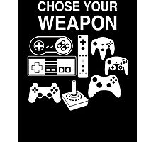 Chose Your Weapon Retro Video Game Console Controllers Graphic Design Photographic Print