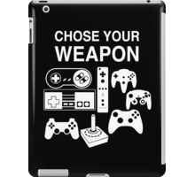 Chose Your Weapon Retro Video Game Console Controllers Graphic Design iPad Case/Skin