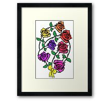 Roses, Freedom, Liberty and Justice for All Framed Print