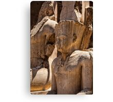 Luxor Temple Statues Canvas Print