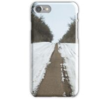 Country Road in Winter iPhone Case/Skin