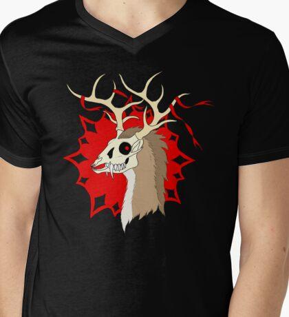 Ribbon Deer (Dark Version) Mens V-Neck T-Shirt