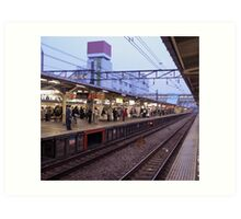 Station – Japanese Trains Art Print