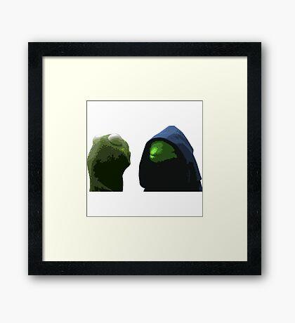 Evil Kermit & Kermit Framed Print