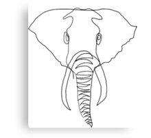 One Line - Elephant Canvas Print